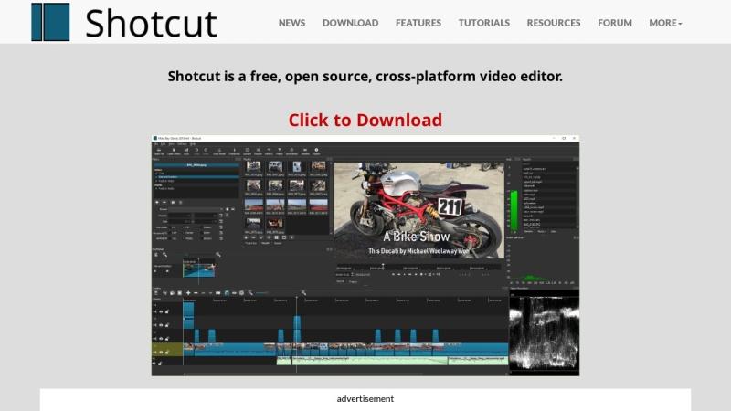 Screenshot von www.shotcut.org