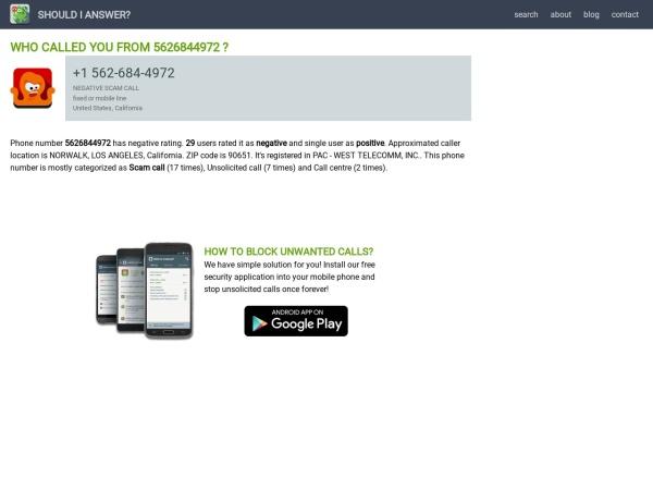 Screenshot of www.shouldianswer.com