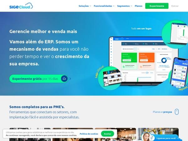 Screenshot of www.sigecloud.com.br