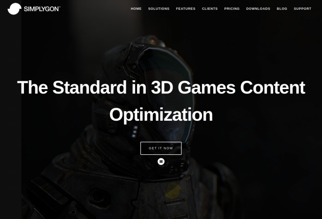 Screenshot of www.simplygon.com