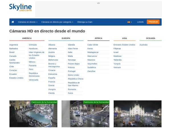 Captura de pantalla de www.skylinewebcams.com
