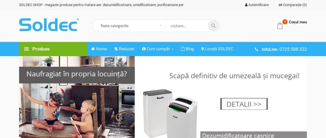 Screenshot of www.soldec-shop.ro