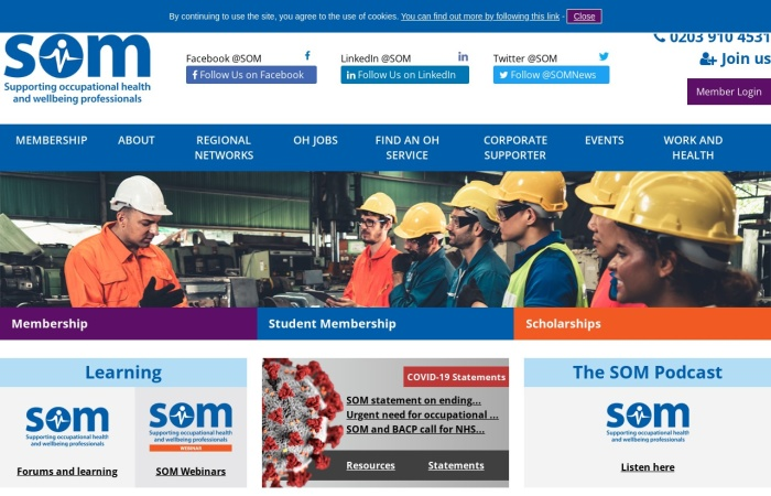 Screenshot of www.som.org.uk