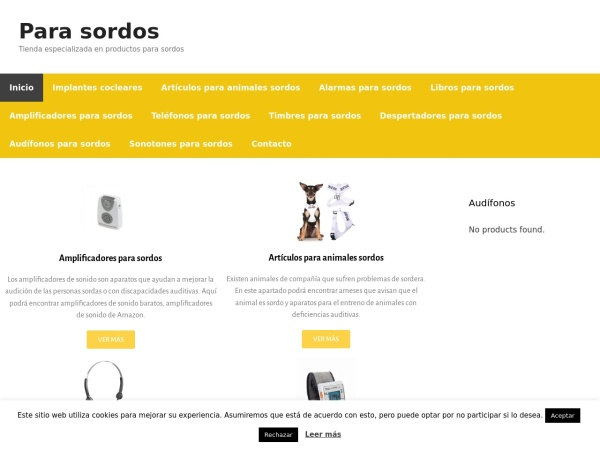 Captura de pantalla de www.sordos.site