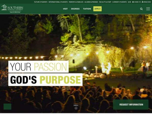 Screenshot of www.southern.edu