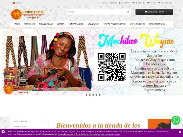 Captura de pantalla de www.souvenirscolombia.com.co
