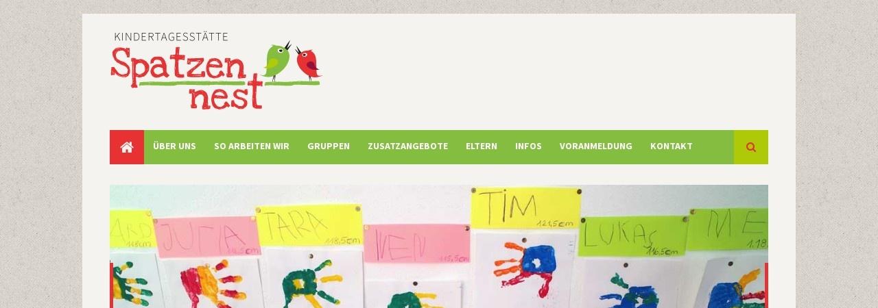 Screenshot von www.spatzennest-augsburg.de