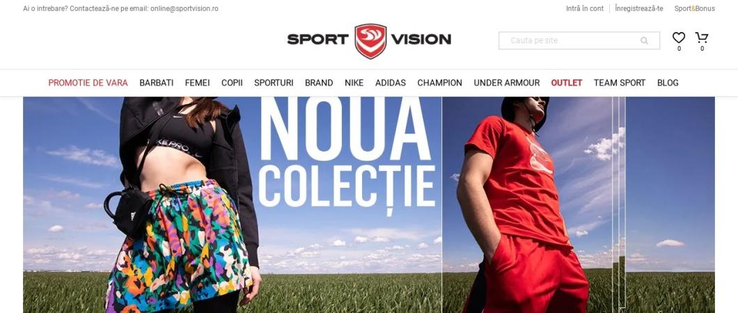 Screenshot of www.sportvision.ro