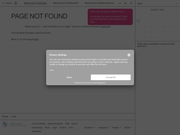 Screenshot of www.staatsoper.de
