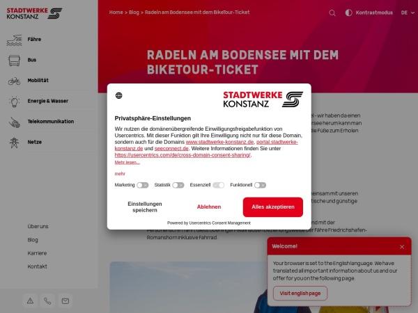 Screenshot von www.stadtwerke-konstanz.de