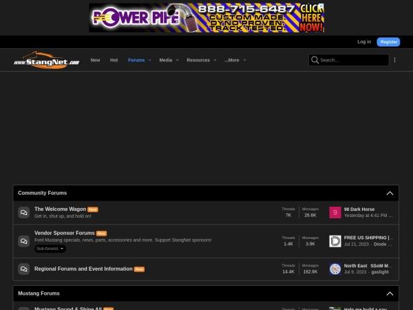 Screenshot of www.stangnet.com