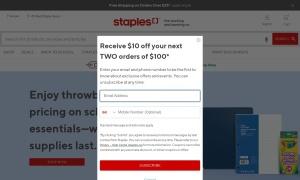 Staplesウェブサイトサムネイル