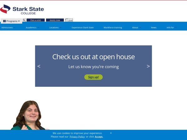 Screenshot of www.starkstate.edu