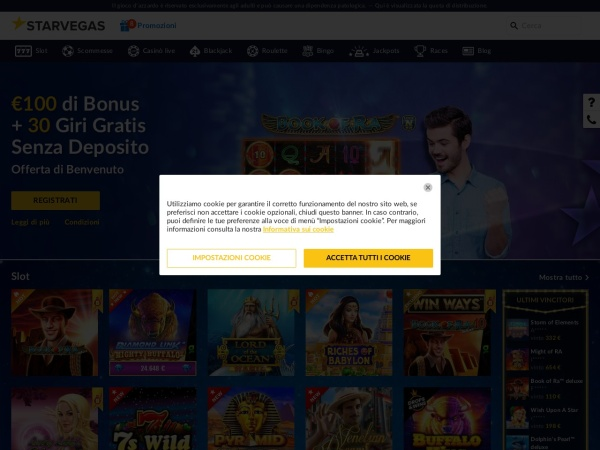 Screenshot of www.starvegas.it