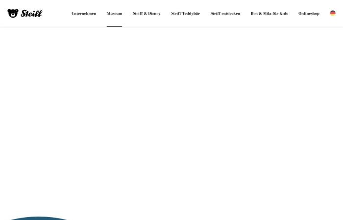 Screenshot von www.steiff.com