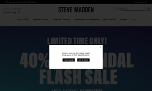 Steve Madden Canadaウェブサイトサムネイル