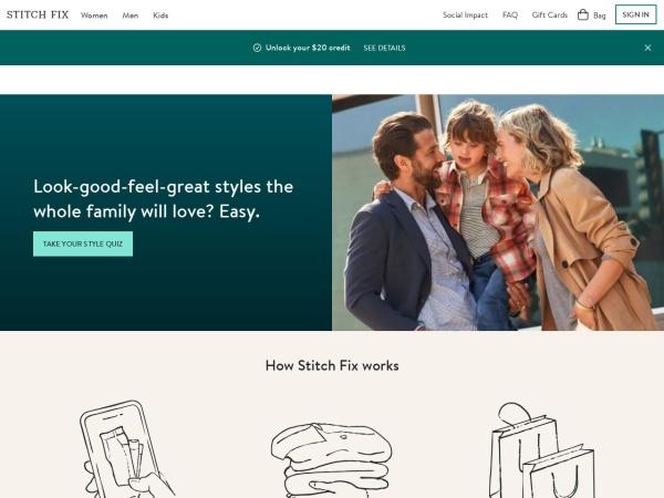 Screenshot of www.stitchfix.com