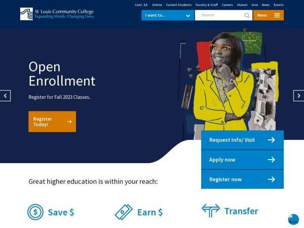Screenshot of www.stlcc.edu