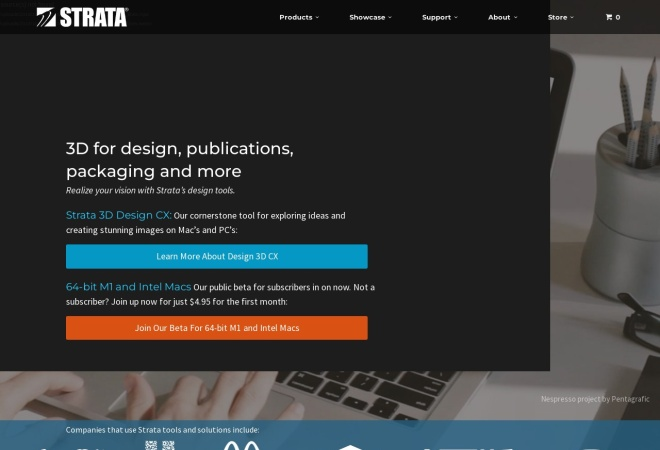 Screenshot of www.strata.com