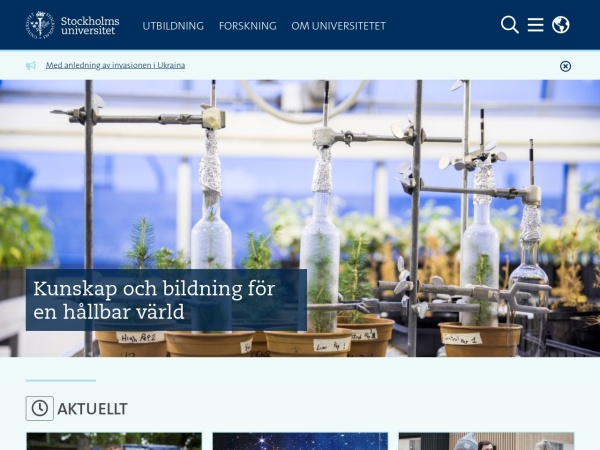 Screenshot of www.su.se