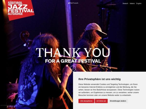 Screenshot von www.suedtiroljazzfestival.com