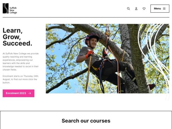 Screenshot of www.suffolk.ac.uk