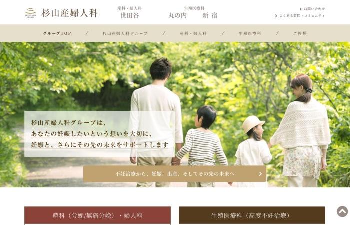 Screenshot of www.sugiyama.or.jp