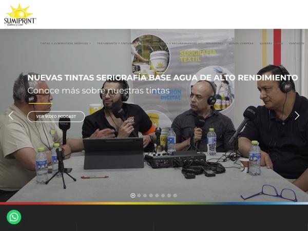 Captura de pantalla de www.sumiprint.com