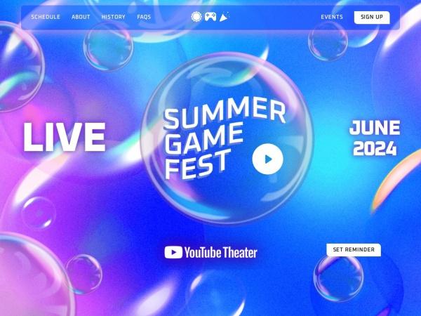 Screenshot of www.summergamefest.com