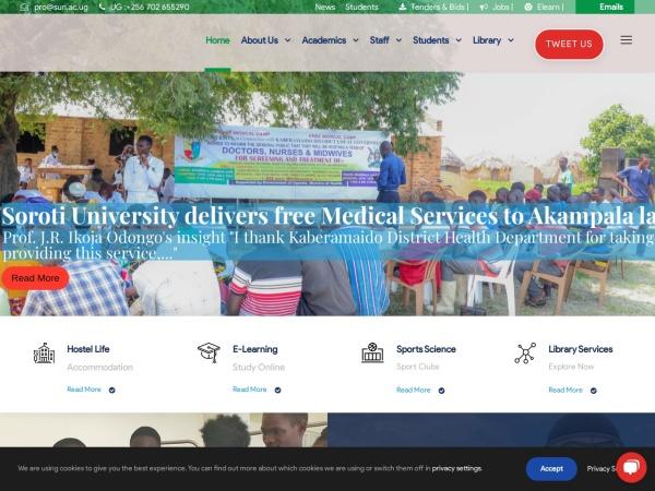 Screenshot of www.sun.ac.ug