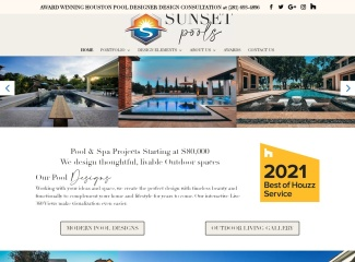 Screenshot of www.sunsetpoolsinc.com