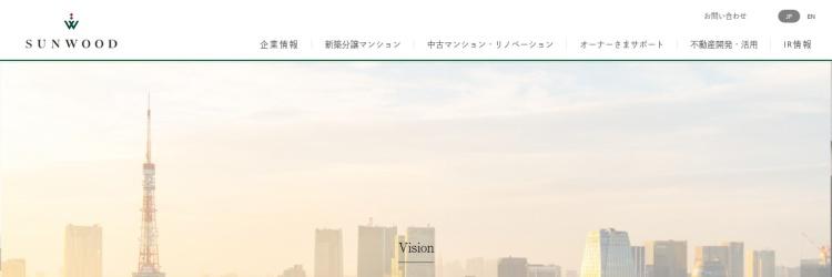 Screenshot of www.sunwood.co.jp