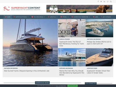 Screenshot of www.superyachtcontent.com