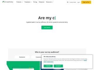 Screenshot of www.surveymonkey.com