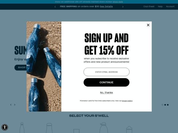 Screenshot of www.swell.com