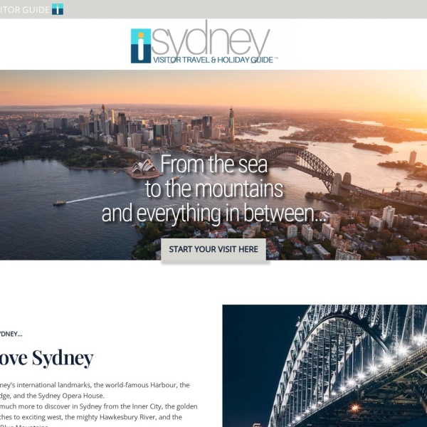 Screenshot of www.sydneyvisitorguide.com.au