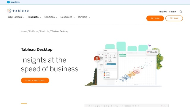 Screenshot of www.tableau.com