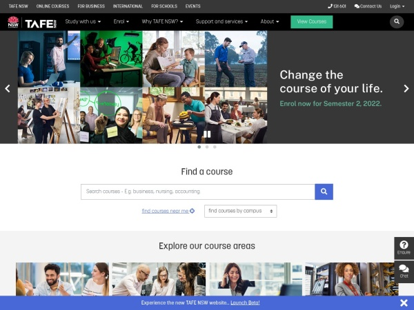Screenshot of www.tafensw.edu.au
