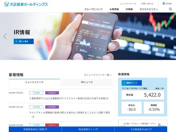 Screenshot of www.taisho-holdings.co.jp