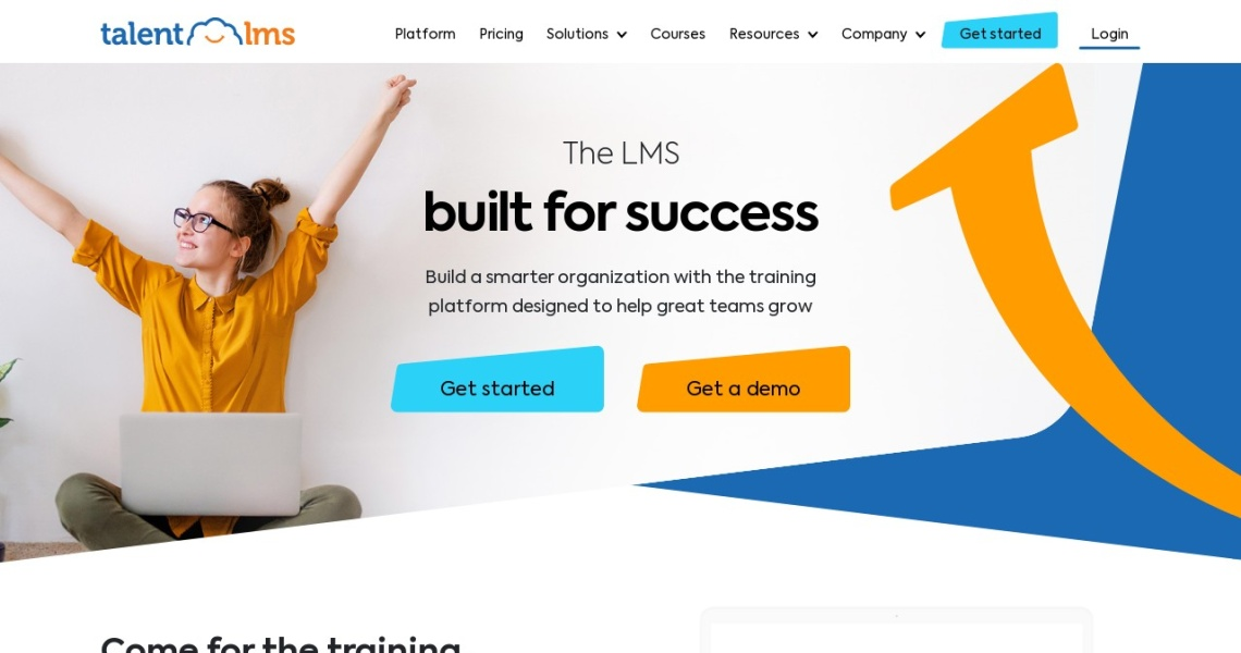 Screenshot of www.talentlms.com