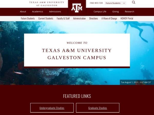 Screenshot of www.tamug.edu