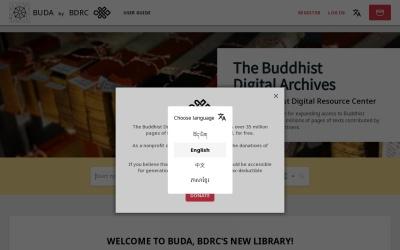 Screenshot of www.tbrc.org