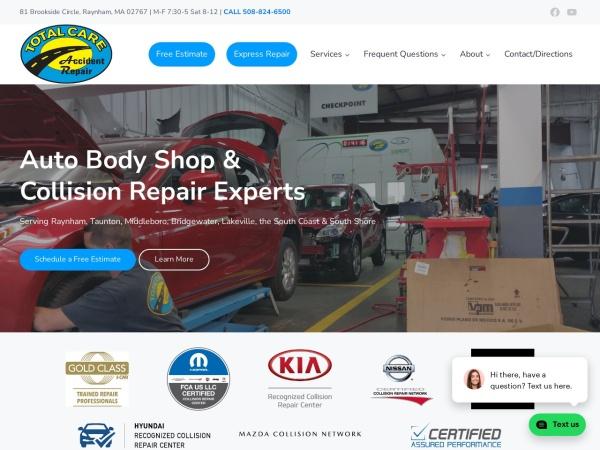Screenshot of www.tcaccidentrepair.com
