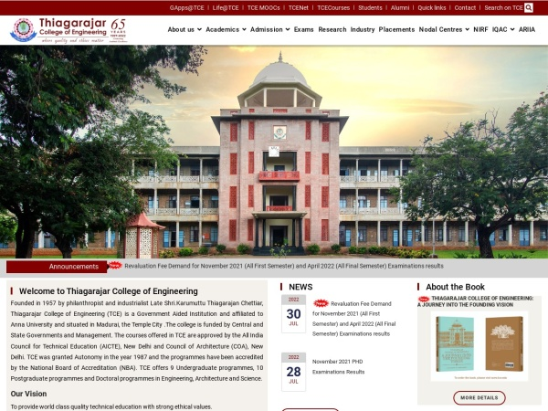 Screenshot of www.tce.edu