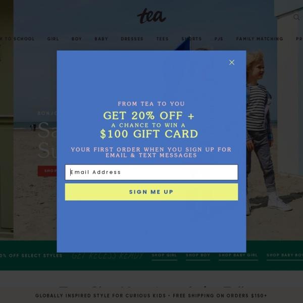 Screenshot of www.teacollection.com