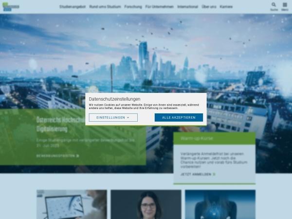 Screenshot of www.technikum-wien.at