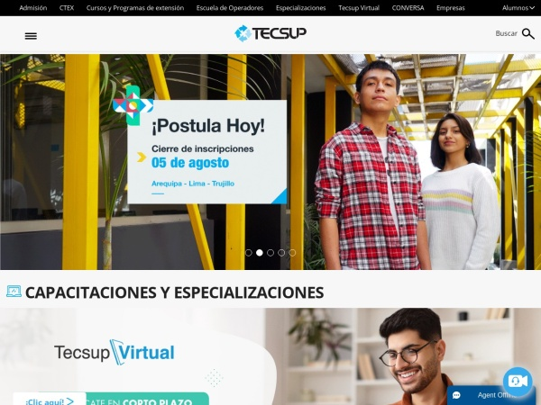 Screenshot of www.tecsup.edu.pe