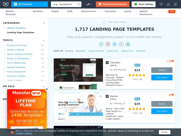 Landing Page Templates | Responsive Landing Pages