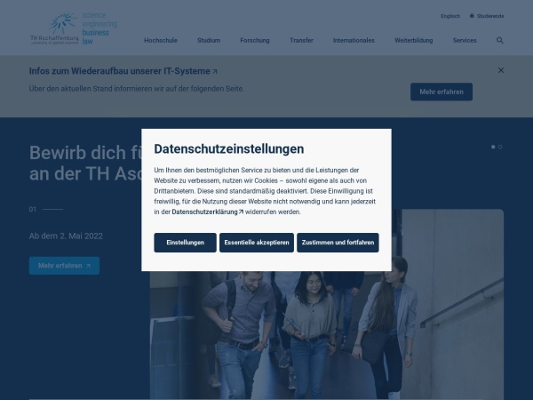 Screenshot of www.th-ab.de