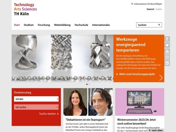 Screenshot of www.th-koeln.de